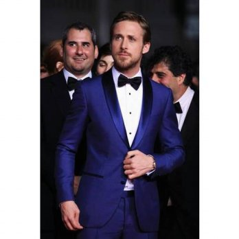 [globalbuy] 2016 Custom Made Blue Two buttons Notch Lapel Groom Tuxedos Leisure Suit Groom/4219861