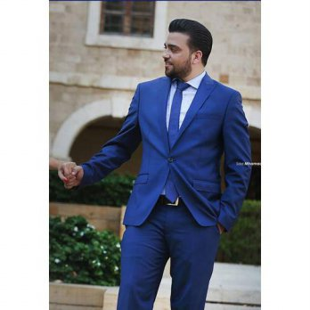[globalbuy] 2016 New Arrival Royal Blue Cheap Man Suit Groom Tuxedos Suits Groomsman Bride/4219829