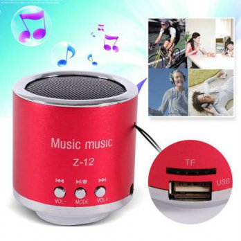[globalbuy] Handfree Wired Portable Mini Speaker Subwoofer FM Radio USB Micro SD TF Card M/3779637