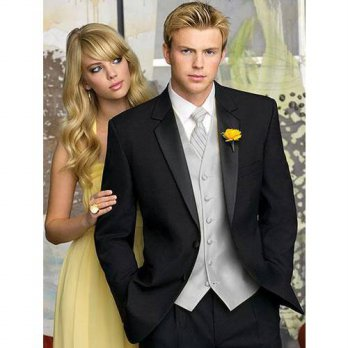 [globalbuy] Wholesale One Button Notch Lapel Groom Tuxedos Groomsmen Mens Wedding Prom Sui/4219817