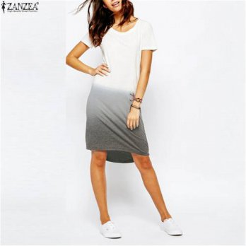 [globalbuy] Brand New Vestidos Women Summer Style T-shirt Dress 2016 Fashion Short Sleeve /4224923