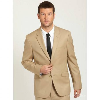 [globalbuy] Beige Popular Handsome Single Breasted Latest Style Notch Lapel Formal Gents S/4219839