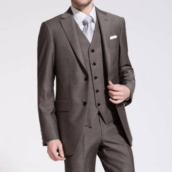 [globalbuy] New arrivals Custom made Business brown Wedding Casual Suits ( jacket+Pants+ve/4219806