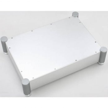 [globalbuy] Silver Full Aluminum Preamplifier Enclosure /Amplifier Tube Amp Chassis /DAC C/3779551
