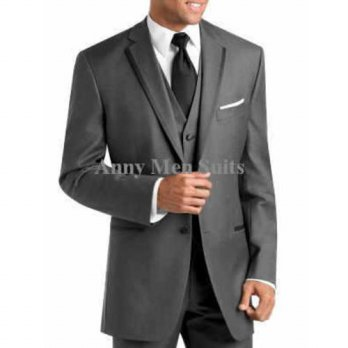 [globalbuy] 2015 New Arrivals Two Buttons Dark Grey Groom Tuxedos Notch Lapel Groomsman Me/4219721