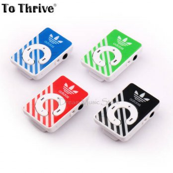 [globalbuy] To Thrive Clip MP3 Player No Memory Card Music Player With TF Slot With 4 Colo/3779483