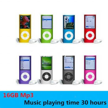 [globalbuy] High Quality 1.8 inch support 16GB mp3 player Music playing 4th gen with fm ra/3779480