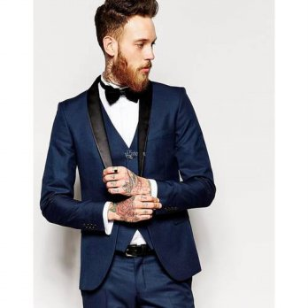 [globalbuy] custom made Mens Wedding Prom Suits shawl lapel one button Groomsmen party sui/4219714
