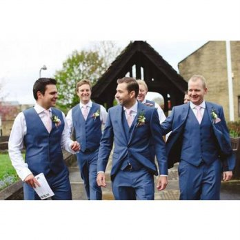 [globalbuy] 2016 Classic Design Blue Groom Tuxedos Groomsman Mens Wedding Prom Suits (Jack/4219703