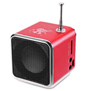 [globalbuy] TD-V26 Portable Radio Speaker With LCD LED Display Support Micro SD/TF Music P/3779439