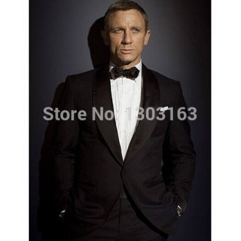 [globalbuy] 2016 One buttons Groom Tuxedos Leisure Business Suits Groomsmen Wedding Suits /4219662
