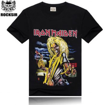 [globalbuy] Iron Maiden Brand 3D t shirt New Style 2016 Heavy Metal Streetwear Mens T-shir/4218928