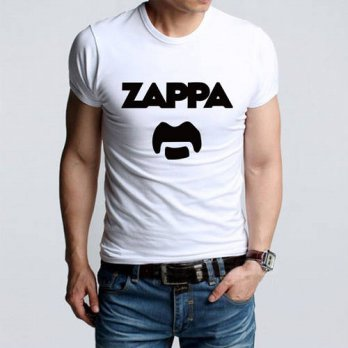 [globalbuy] Summer Fashion Eccentric Rock Icon Frank Zappa Funny Print T-shirts Men Casual/4218874