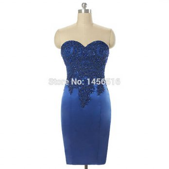 [globalbuy] Real Sample Cocktail Dresses Ever Pretty Women 2016 Mini Short Satin Applique /4224531