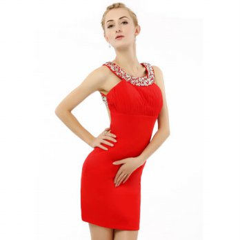 [globalbuy] robe de cocktail High Quality New Fashion Party Event Dress 2016 Ladies Sheath/4224412