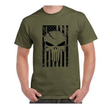 [globalbuy] American Sniper Chris Kyle Men T Shirt Punisher Skull Navy Seal Team Legend Pr/4218807