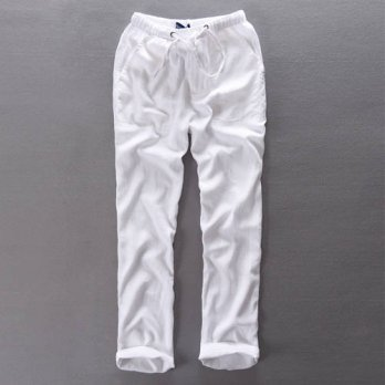 [globalbuy] 2016 New Summer Chinese Style Mens Clothing Linen Casual Pants Male Thin Loose/4218725