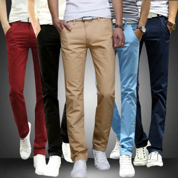 [globalbuy] Hot New Fashion Men Casual Pants Male Business Stretch Slim Fit Straight Skinn/4218677