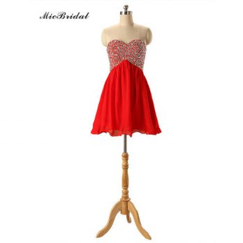 [globalbuy] Cheap Robe De Cocktail 2016 Red Short Cocktail Dresses Real Picture Elegant St/4224395