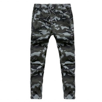 [globalbuy] top selling men military camouflage pants elastic sweatpants trousers joggers /4218668