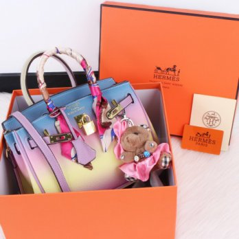 H Birkin Twilly Rainbow Bag 25cm