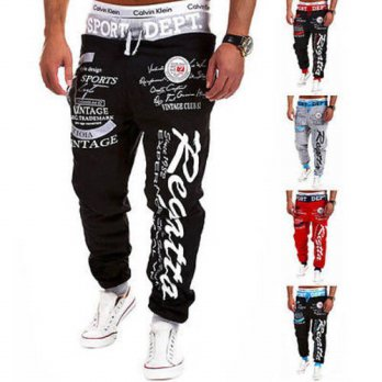 [globalbuy] Men Clothing Hiphop Sweatpants Pants Jogger Fashion Casual Loose Baggy Harem S/4218635