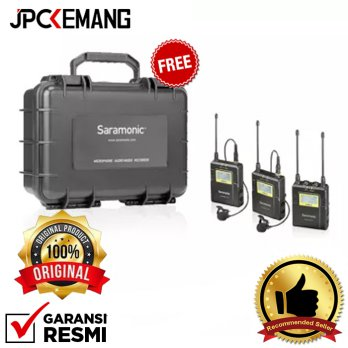 Saramonic UwMic9 TX9+TX9+RX9 Wireless Omni Lavalier Microphone Free SR-C8 Hard Case ORIGINAL