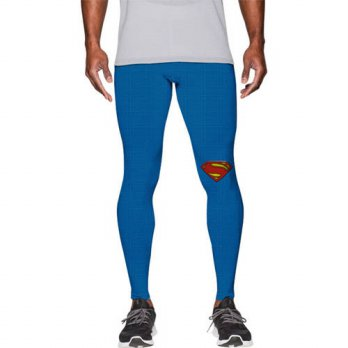 [globalbuy] 3 d digital printing gold superman man tight fitness stretch pants novelty fas/4218589