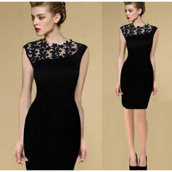 [globalbuy] 2016 Hot Sale Casual ALine Women Popular Dress No Sleeve O-Neck Knee-Length Dr/4224229