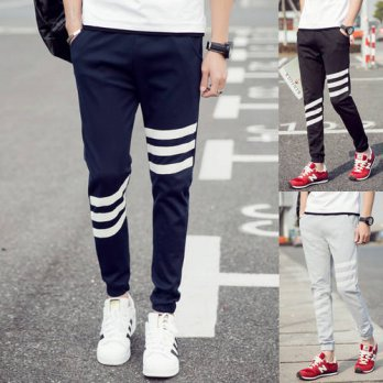 [globalbuy] 2016 Autumn Summer Man Leisure Cotton Plus Size Men pants For Teenagers Casual/4218519