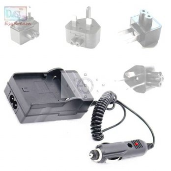 [globalbuy] Battery Charger + Car Charger + AU/US/UK/EU Adapter For Panasonic BCG10PP BCG1/3778883