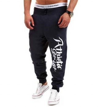 [globalbuy] Jogger Pants Outdoors Joggers Men 2016 Male Letter Print Harem Pants Sweat Pan/4218581