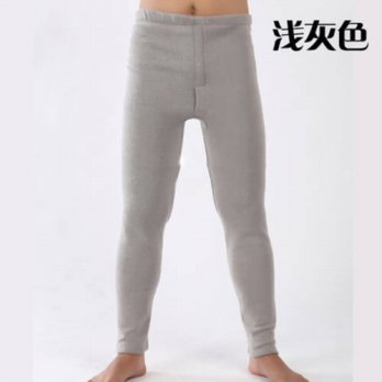 [globalbuy] 2016 new arrival Male high waist warm pants extra large plus velvet long johns/4218573