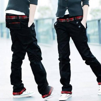 [globalbuy] Hot New Arrival Mens Stylish Straight Design Jeans Slim Trousers Casual Long C/4218570