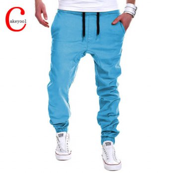 [globalbuy] Mens Pants 2016 Brand Male Trousers Casual Long Pants Solid Sweatpants Large S/4218568