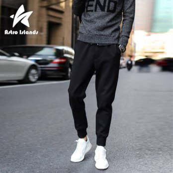 [globalbuy] Mens Pencil Pants 2016 Autumn Mens Brand Fashion Casual Pants Comfort Clothes /4218556