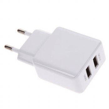 [globalbuy] 5V 9V 12V Dual USB Quick Charge Adapter USB 2.0 Travel Wall Charger Adapter EU/3778930
