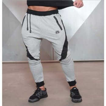 [globalbuy] Men Fashion Design Pants Men Brand Casual sweat pants Fitness Clothes Gymshark/4218547