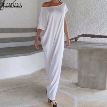 [globalbuy] Vestidos 2016 Summer Women Boho Long Maxi Dress Casual Loose Sexy Elegant Slas/4224224