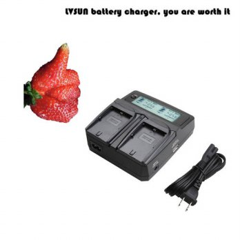 [globalbuy] LVSUN LC-E8C LC E8C E8E LP-E8 LP E8 Car Camera Battery Charger with LCD Displa/3778879