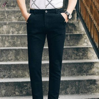 [globalbuy] 2016 New Arrival Man Fashion Business Pant 2 Color Mens Pants Casual Famous Br/4218492