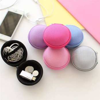 [globalbuy] Cute Hold Case Storage Carrying Hard Bag Box for Earphone Headphone Earbuds me/3778777