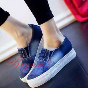 POXING/ SLIP ON JEANS FH65 BIRU