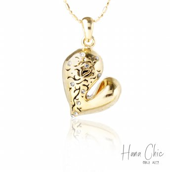 HanaChic My Heart Necklace / Kalung My Heart | Material Aloy & Gold plated