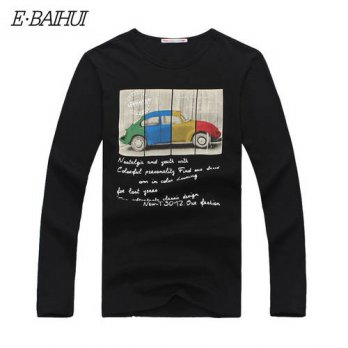 [globalbuy] E-BAIHUI 2016 New Fashion Brand Men Clothes Solid Color Long Sleeve Slim Fit T/4215893