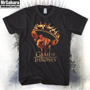 [globalbuy] New Game Of Thrones HBO Tv Show Golden Crown Fist tshirt Men&Womens Unisex t-s/4215815