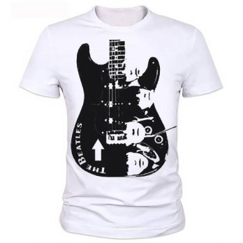 [globalbuy] Guitar Man T-shirt printing Metallica The Beatles Nirvana Guns N Roses Che Gue/4215814