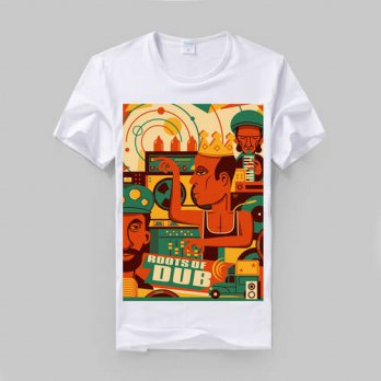 [globalbuy] Bob Marley do the dub jamaica style reggae fashion slim t shirt modal cotton s/4215804