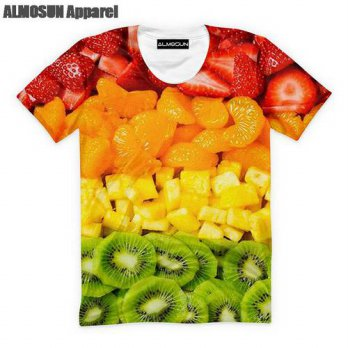 [globalbuy] ALMOSUN The Fresh Fruits Food 3D All Over Print T Shirts Short Sleeve Hipster /4215761