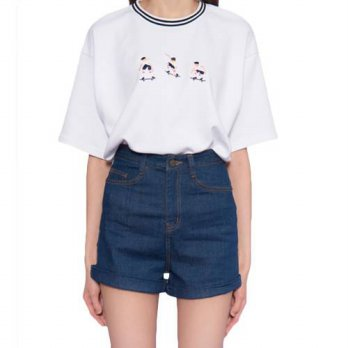 [globalbuy] 2016 Summer Harajuku Fashion T-shirts for Women Short Sleeve Tee Kawaii Skateb/4222397